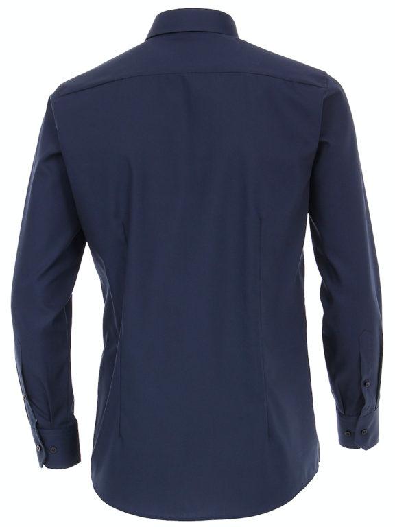 Venti overhemd blauw Modern fit strijkvrij kent kraag basis blouse 001480 (3)