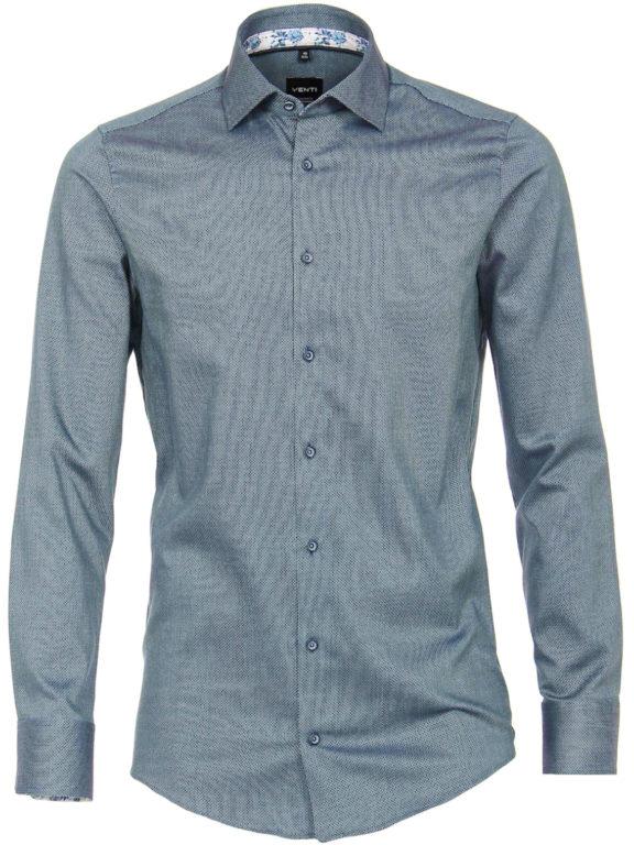Venti overhemd kent boord turquoise gewerkt 113599500 (4)