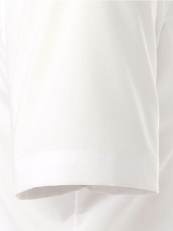 Venti overhemd korte mouw wit Body fit met bloemen motief in de boord 603431000-000 (10)