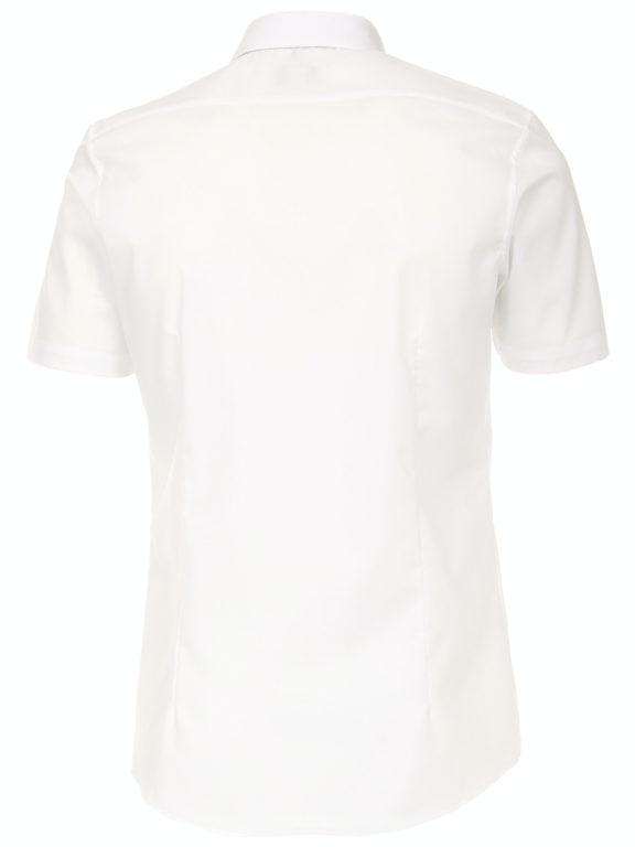 Venti overhemd korte mouw wit Body fit met bloemen motief in de boord 603431000-000 (11)