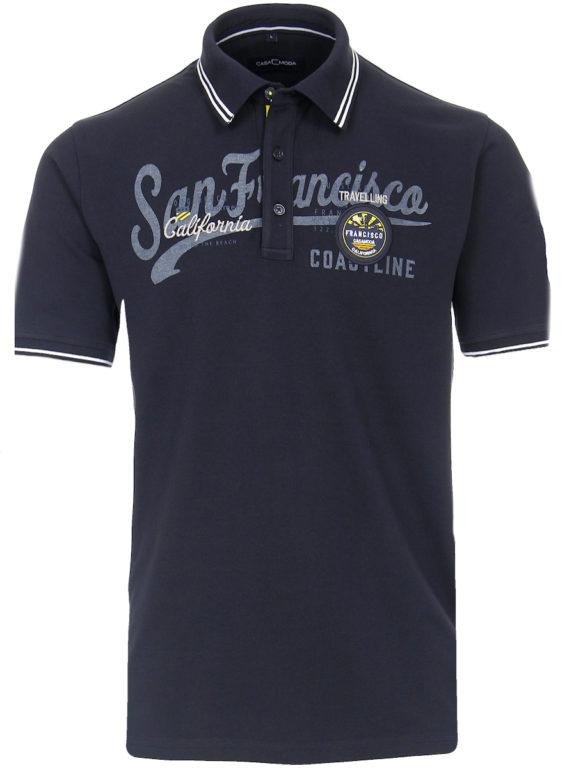 Casa Moda polo shirt Blauw San Franciso Coast California 913594400-105 Bendelli (9)