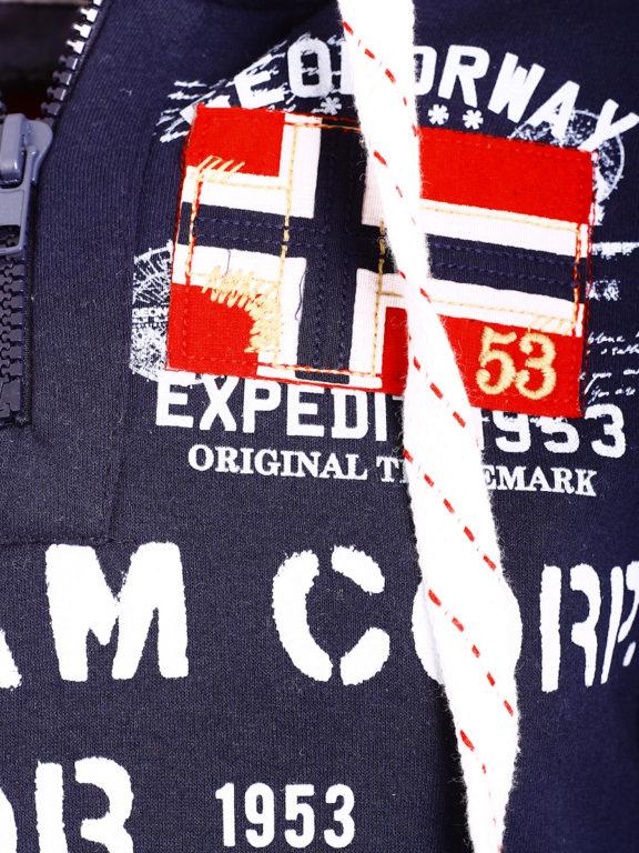 Geographical Norway Hoodie Capuchon mert rits grijs Goptaine (4)