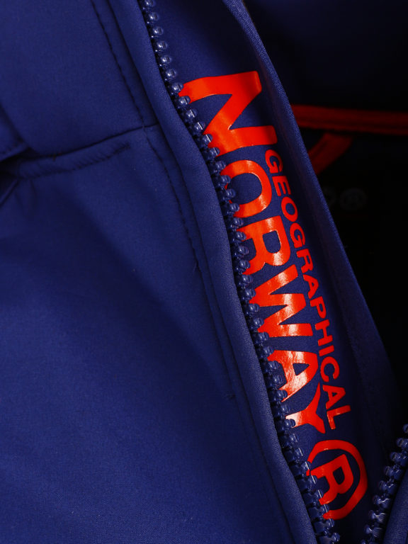 Geographical Norway Softshell Jas Stretch Blauw met capuchon Premium Tacebook (3)