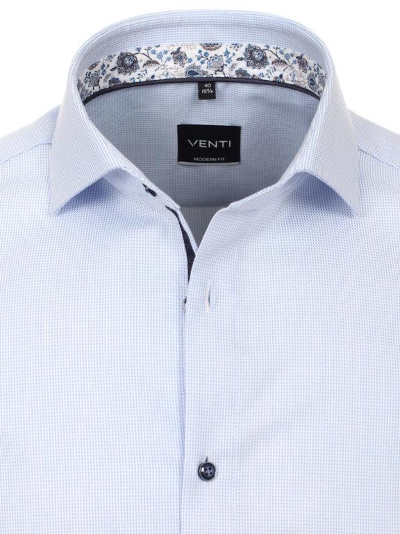 Korte mouw blouse Venti met bloemenprint in de boord 613659700-100 (1)