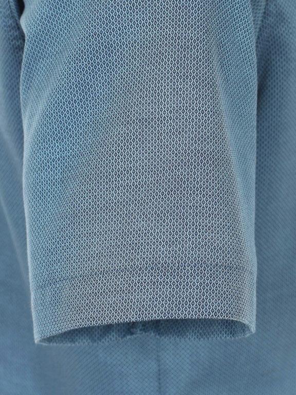 Venti overhemd korte mouw blauw met bloemenprint en strijkvrij 613657300-350 (1)