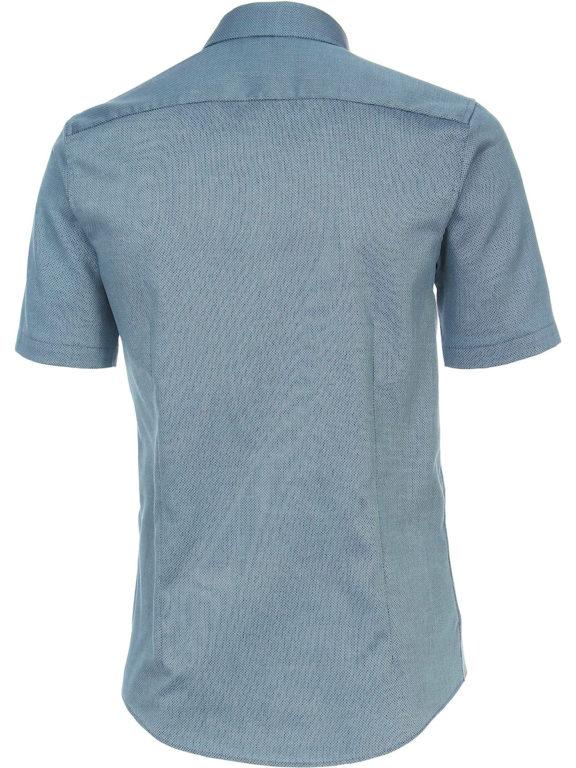 Venti overhemd korte mouw blauw met bloemenprint en strijkvrij 613657300-350 (4)