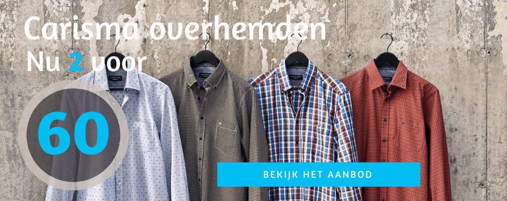 Alle carisma overhemden 2 voor 60 euro homepage