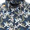 Casa Moda organic overhemd met bloemenprint blauw modern fit kent kraag 413613300 (3)