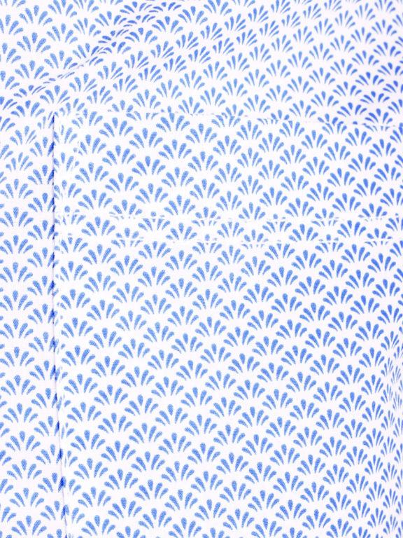 E-Bound heren overhemd korte mouw met borstzak en motief blauw 147230.H.SH (3)