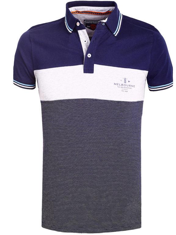 E-Bound polo shirt Blauw heren Melbourne to Devenport 147209.H.PO (1)