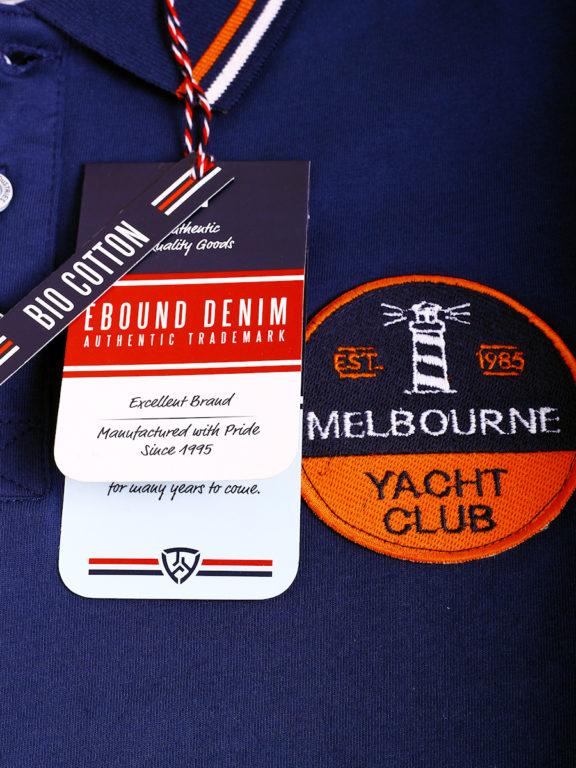E-Bound polo shirt heren Melbourne Yacht Club bio katoen blauw 147196.H.PO (1)