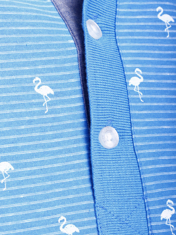 E-Bound poloshirt heren lichtblauw met vogelmotief met jeans kraag 145747.H.PO (5)