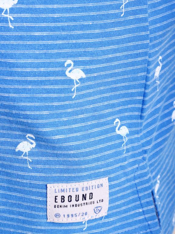 E-Bound poloshirt heren lichtblauw met vogelmotief met jeans kraag 145747.H.PO (6)