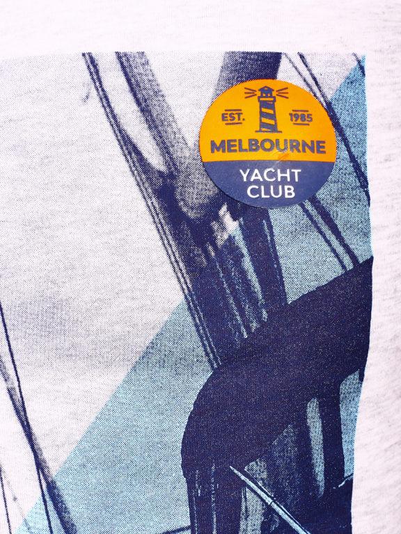 E-Bound shirt korte mouw ronde hals Melbourne Yacht Club grijs 147294.H.TS (3)