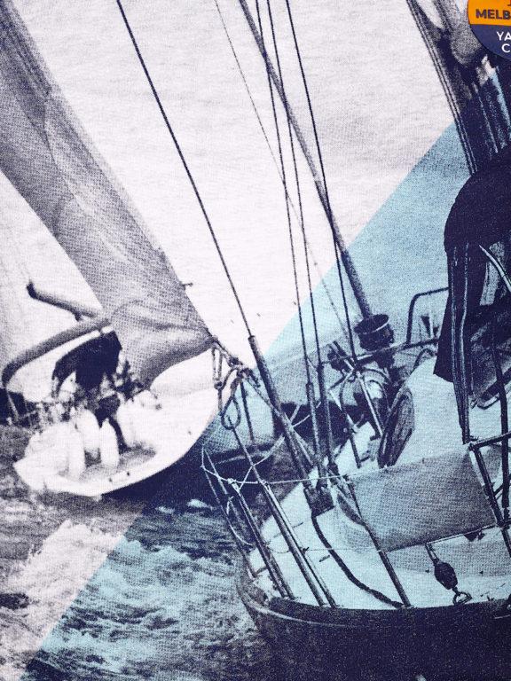 E-Bound shirt korte mouw ronde hals Melbourne Yacht Club grijs 147294.H.TS (4)
