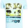 E-Bound shirt ronde hals California sunset beach blauw 145785.H.TS (2)