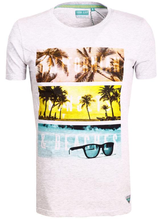 E-Bound shirt ronde hals California sunset beach grijs 145785.H.TS (2)
