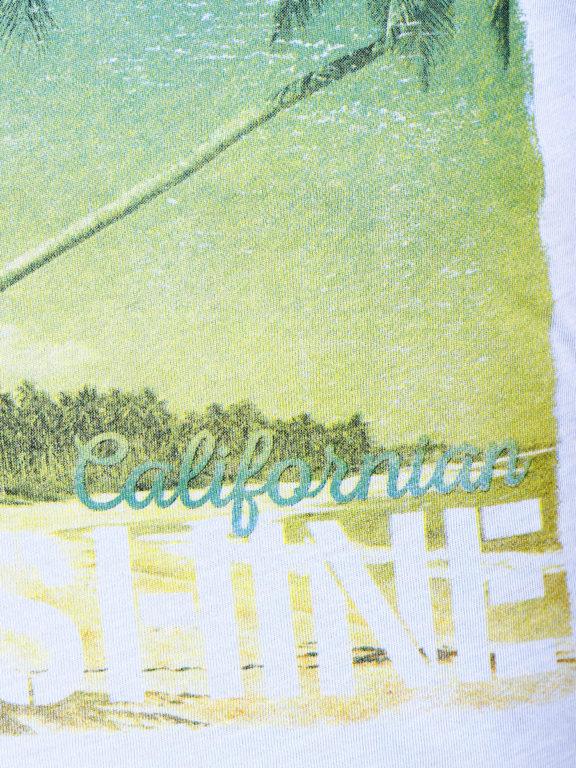 E-Bound t-shirt Sunshine California beach blauw 145238.H.TS (6)