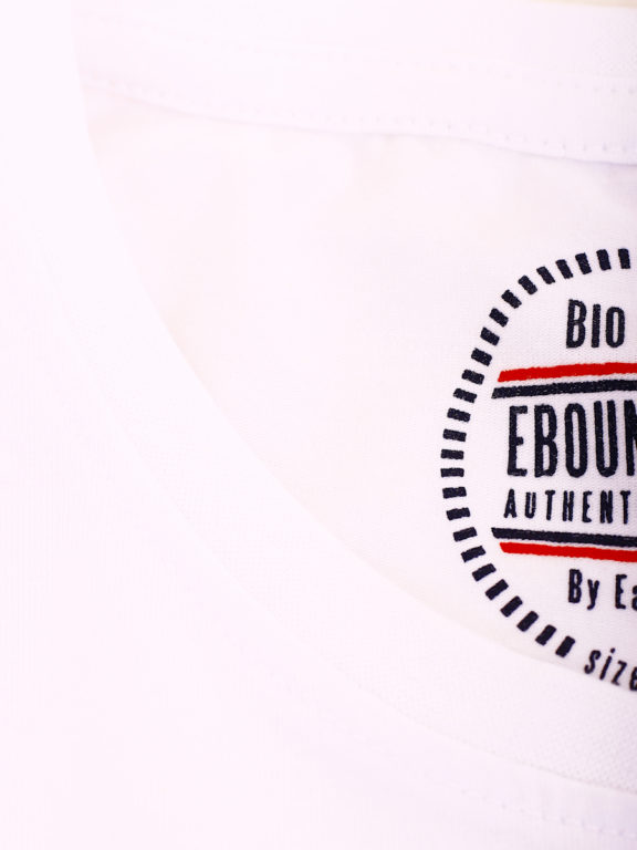 E-Bound t-shirt wit bio katoen basic shirt met ronde hals 147314.H.TS (1)