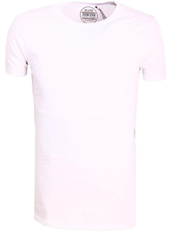 E-Bound t-shirt wit bio katoen basic shirt met ronde hals 147314.H.TS (2)