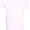 E-Bound t-shirt wit bio katoen basic shirt met v-hals 147315.H.TS.VX (1)