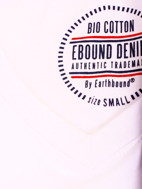 E-Bound t-shirt wit bio katoen basic shirt met v-hals 147315.H.TS.VX (3)