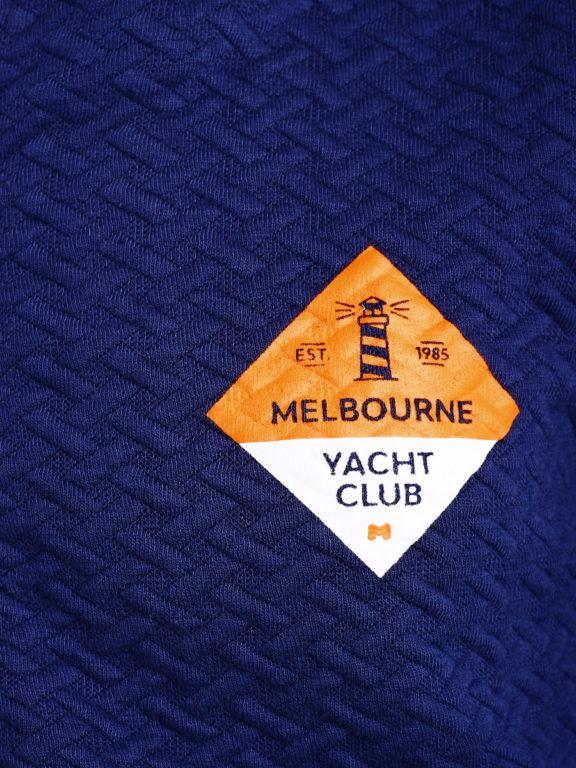 E-Bound vest met opstaande kraag Melbourne Yacht Club blauw 147266.H.CS (6)