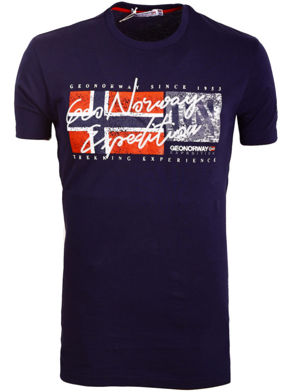 Geographical Norway t-shirt ronde hals blauw expedition Jozep (3)
