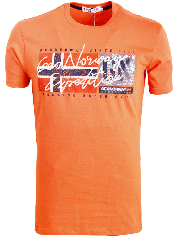 Geographical Norway t-shirt ronde hals oranje expedition Jozep (2)