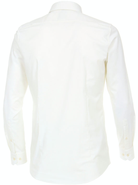 Venti Hyperflex overhemd wit met stretch en button down boord 113654800 (3)