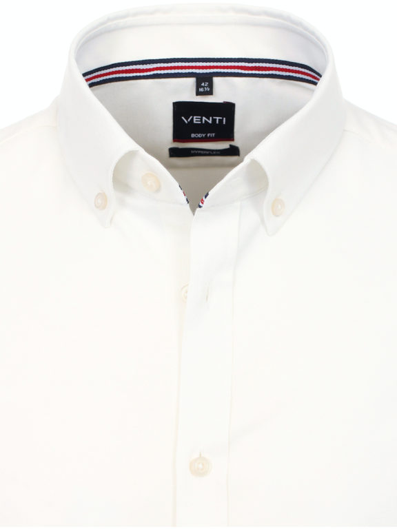 Venti Hyperflex overhemd wit met stretch en button down boord 113654800 (4)