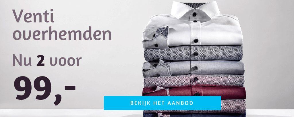 Venti en casa Moda overhemden 2 voor 99