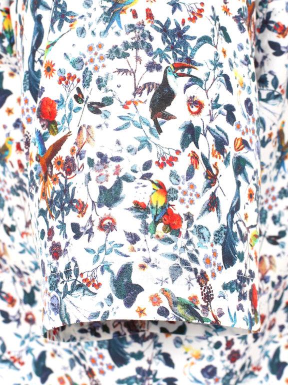 Venti overhemd korte mouw met bloemenprint blauw modern fit kent kraag 613696000 (1)