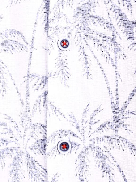 Carisma overhemd korte mouw met bloemenmotief wit (1)