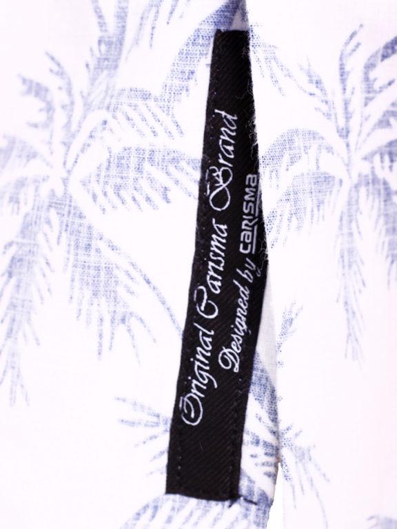 Carisma overhemd korte mouw met bloemenmotief wit (4)