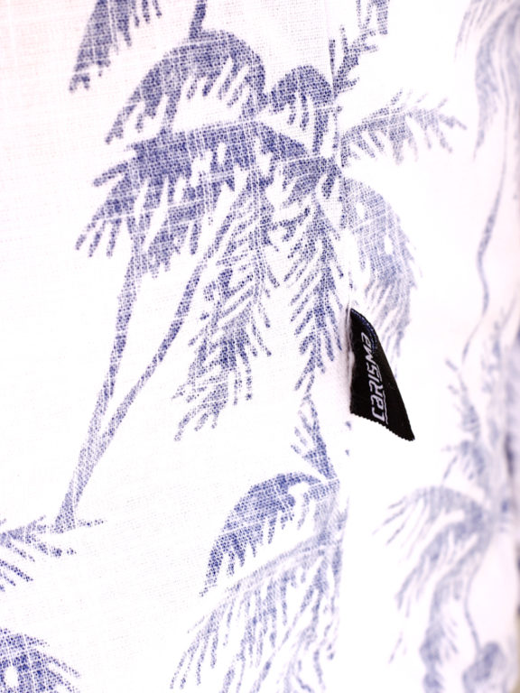 Carisma overhemd korte mouw met bloemenmotief wit (5)