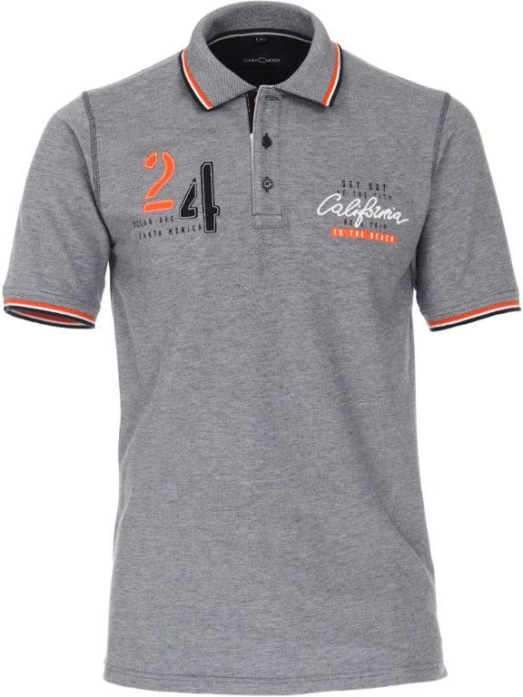 Casa Moda polo shirt Santa Monica Ocean beach met print blauw 913672500-147 (2)