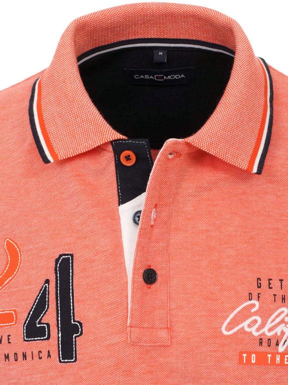Casa Moda polo shirt Santa Monica Ocean beach met print oranje 913672500-460 (3)