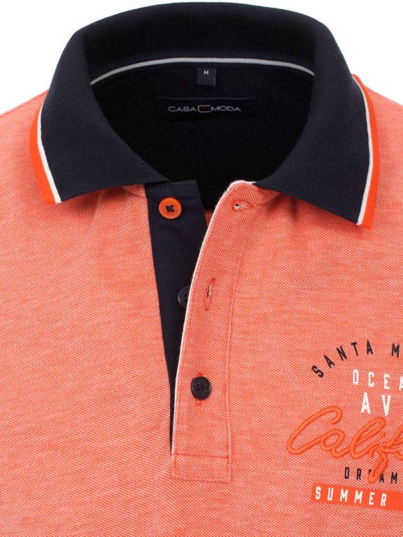 Casa Moda poloshirt oranje Santa Monica summer vibes met print 913672900-460 (4)