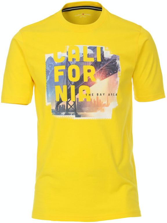 Casa Moda t-shirt geel ronde hals california 913594100-537 (2)
