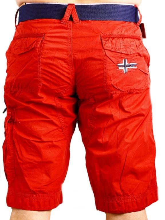 Geographical Norway korte broek rood opbergzakken met print Parodie (1)