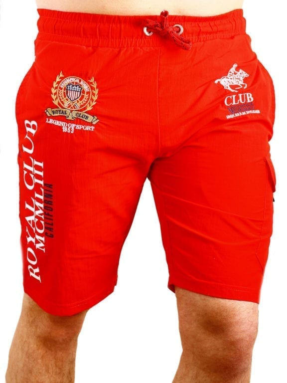 Geographical Norway zwembroek Royal Club print met opbergzak rood (3)