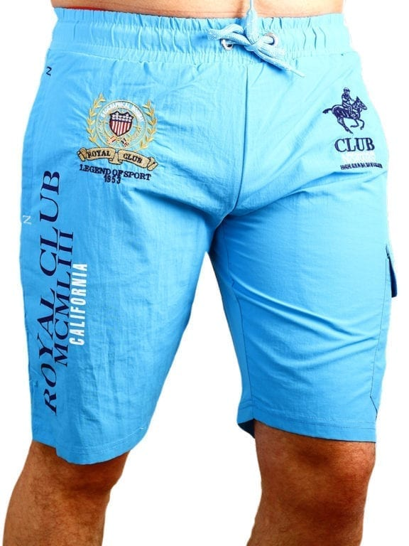 Geographical Norway zwembroek Royal Club print met opbergzak turquoise (2)