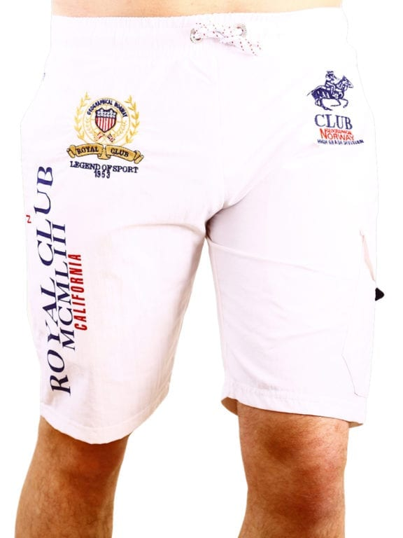 Geographical Norway zwembroek Royal Club print met opbergzak wit (2)