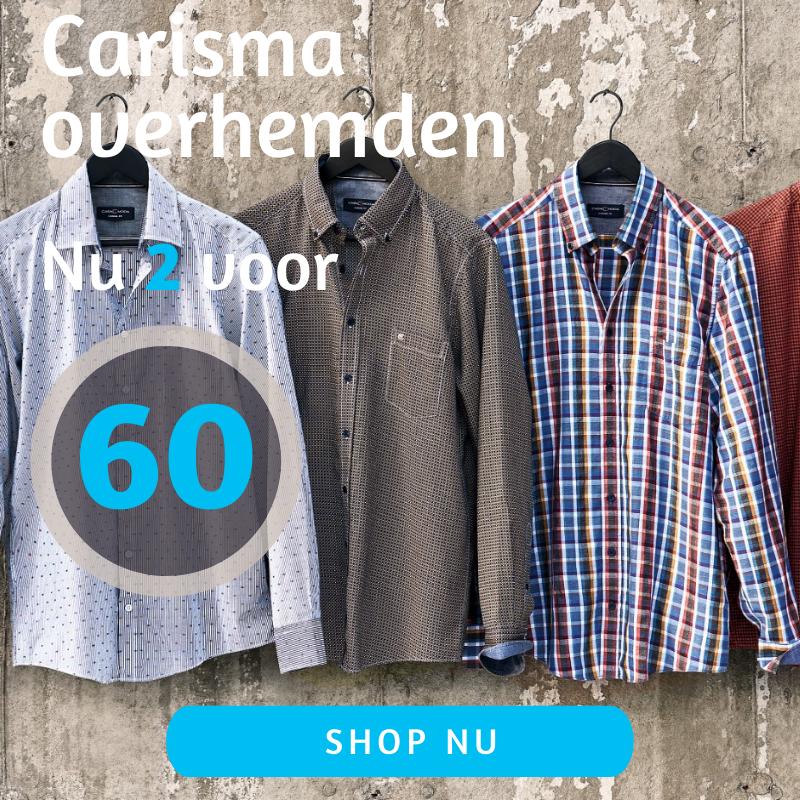 Alle carisma overhemden 2 voor 60 euro actiepagina