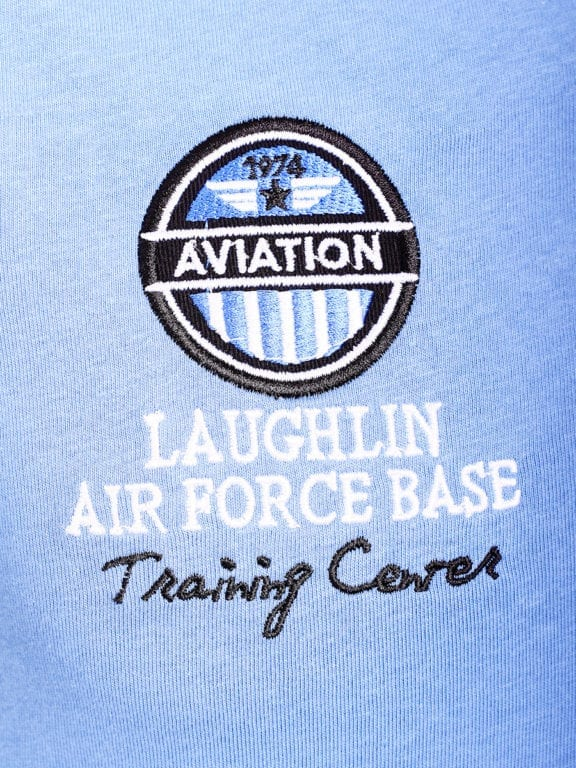 E-Bound polo shirt heren Air Force Del Rio Texas 100 procent katoen blauw 145296 (3)