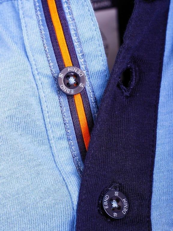 E-Bound polo shirt heren Air Force Del Rio Texas 100 procent katoen blauw 145296 (4)