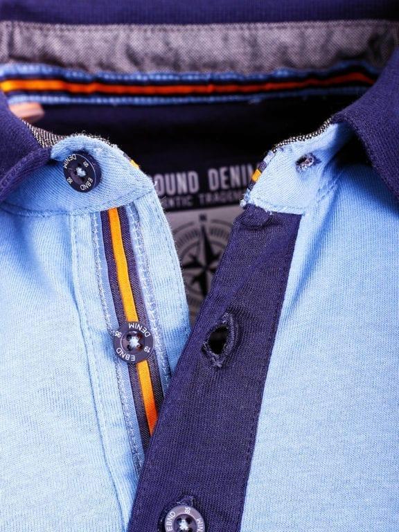 E-Bound polo shirt heren Air Force Del Rio Texas 100 procent katoen blauw 145296 (5)