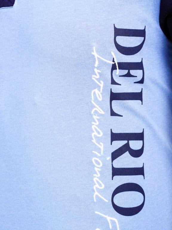 E-Bound polo shirt heren Air Force Del Rio Texas 100 procent katoen blauw 145296 (6)