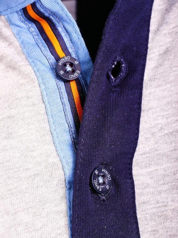 E-Bound polo shirt heren Air Force Del Rio Texas 100 procent katoen grijs 145296 (11)